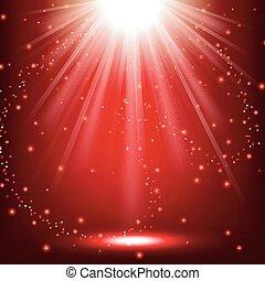 elegante, luzes, brilhar