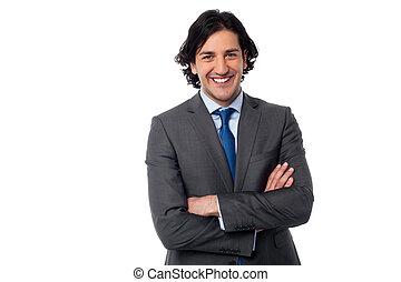 elegante, macho, profesional negocio
