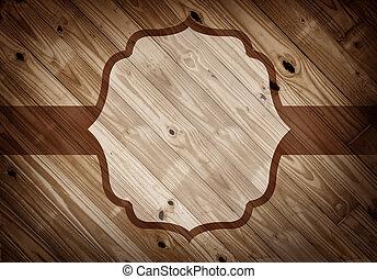 elegante, marco, en, viejo, madera, plano de fondo, con, espacio de copia