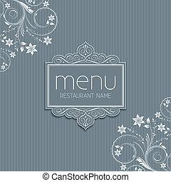 elegante, menú, diseño