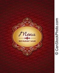 elegante, menu, desenho