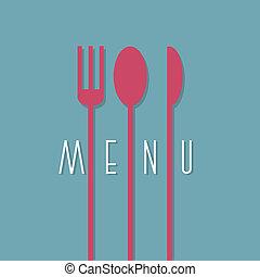elegante, menu ristorante, disegno, in, minimo, stile, -, variazione, 1