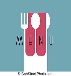 elegante, menu ristorante, disegno, in, minimo, stile, -, variazione, 2