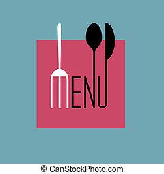 elegante, menu ristorante, disegno, in, minimo, stile, -, variazione, 8