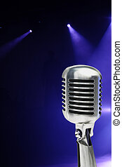 elegante, microfone