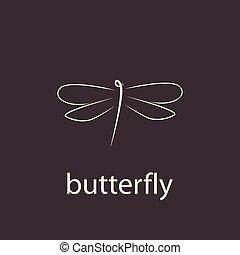 elegante, minimalista, libellula