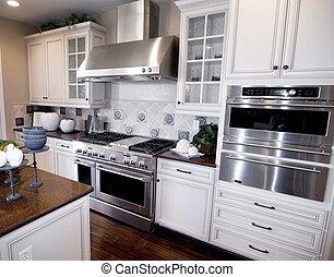 elegante, modernos, cozinha