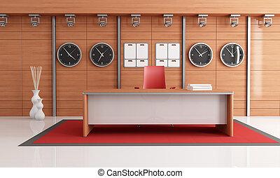 elegante, modernos, escritório