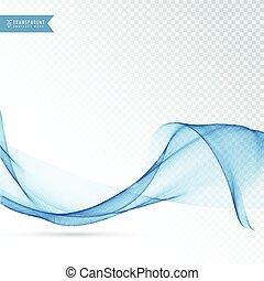 elegante, onda azul, fundo, desenho