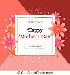 elegante, primavera, venda, dia, mães, flover, fundo
