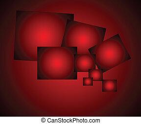 elegante, resumen, fondo rojo
