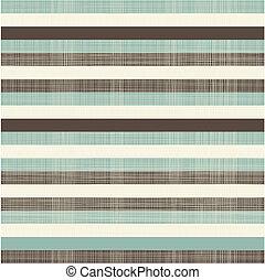 elegante, retro, líneas horizontales, seamless, plano de...