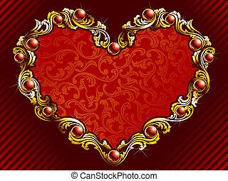 elegante, rubini, fondo, valentina