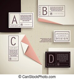 elegante, sagoma, infographic, disegno