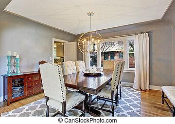 elegante, sala da pranzo, interno