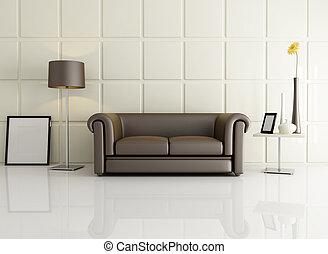 elegante, sala de estar