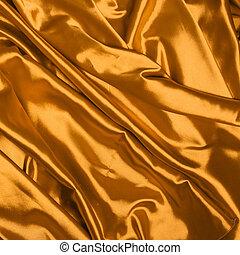 elegante, seda, liso, ouro, fundo