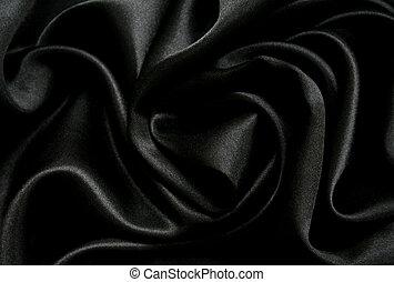 elegante, seda, liso, plano de fondo, negro