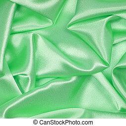 elegante, seda, liso verde, plano de fondo
