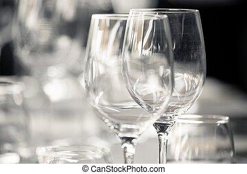 elegante, set, tavola