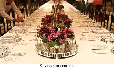 elegante, tavola cena, regolazione, 3