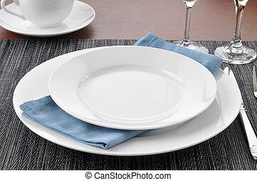 elegante, tavola mette