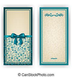 elegante, vector, plantilla, para, lujo, invitación, tarjeta