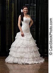 elegante, vestido, casório