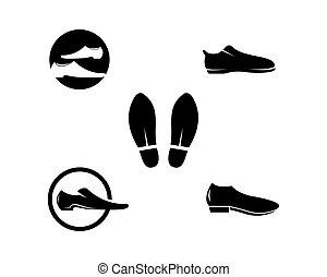 elegante, vettore, scarpa, icona