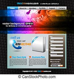 elegante, web, astratto, sagoma, sviluppo