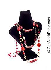 Elegent necklace on mannequin - Elegant necklace on black...