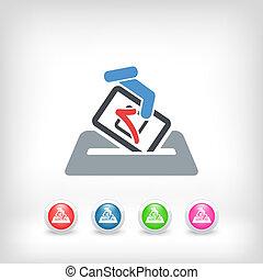 eleição, conceito, ícone