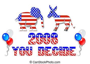 eleição, dia, 2008