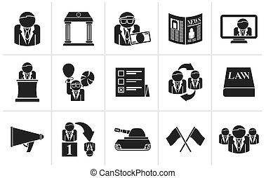 eleição, e, partido político, ícones