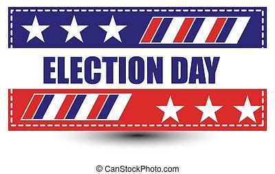 eleição, fundo, dia