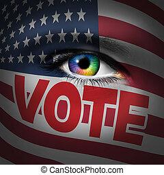 eleitor, americano, conceito