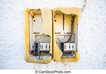 elektřina, box