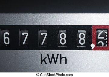 elektricitet, avbild, disk