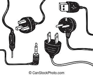elektricitet, binda med rep