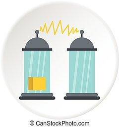 elektrický impuls, ikona, kruh