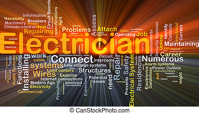 elektrik, baggrund, begreb, glødende