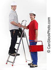 elektriker, hand skälv