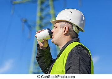 elektriker, ingenjör, dricka