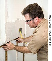 elektriker, installera, binda