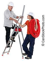 elektriker, mannschaft