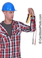 elektriker, multimeter, besitz