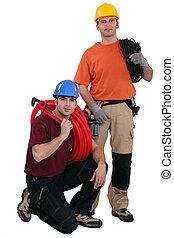 elektriker, und, klempner