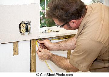 elektriker, verdrahtung, daheim
