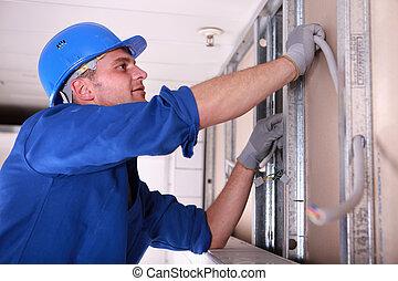 elektriker, verdrahtung, installieren
