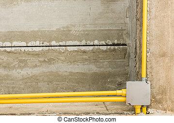 Delightful Elektrisch, Drähte, Installation, Und, Leitungsrohre, Von, Elektrizität, In,